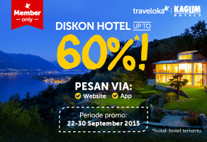 Diskon Hotel up to 60%