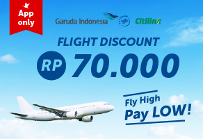 Promo Fly High, Pay Low Diskon Rp70.000 >