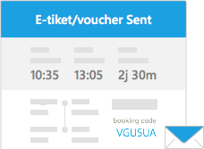 E-ticket/hotel voucher will be sent to your email address