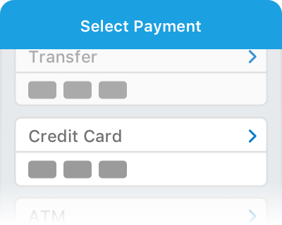 Select the Credit Card payment method