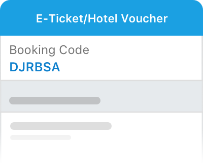 E-ticket/voucher is sent to your Traveloka App and email