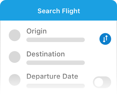 Search and book flight