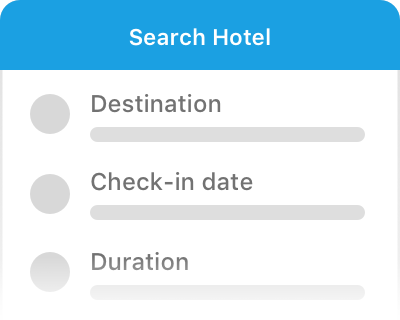 Search and book hotel