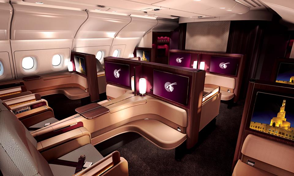 Image result for Qatar Airways Business Class pesawat mewah