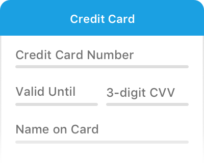 Fill in your credit card details
